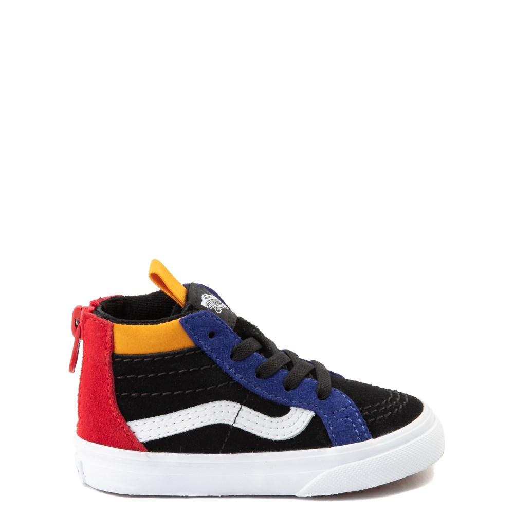Vans Sk8 Hi Zip MTE Color-Block Skate Shoe - Baby / Toddler - Black / Multi