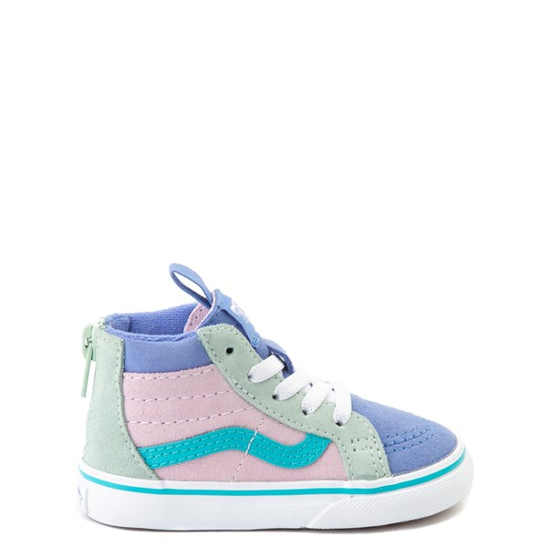 Default view of Vans Sk8 Hi Zip MTE Color-Block Skate Shoe - Baby / Toddler - Lilac Snow / Ultramarine
