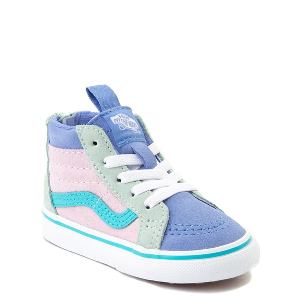 alternate view Vans Sk8 Hi Zip MTE Color-Block Skate Shoe - Baby / Toddler - Lilac Snow / UltramarineALT1