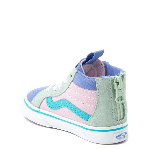 alternate view Vans Sk8 Hi Zip MTE Color-Block Skate Shoe - Baby / Toddler - Lilac Snow / UltramarineALT2