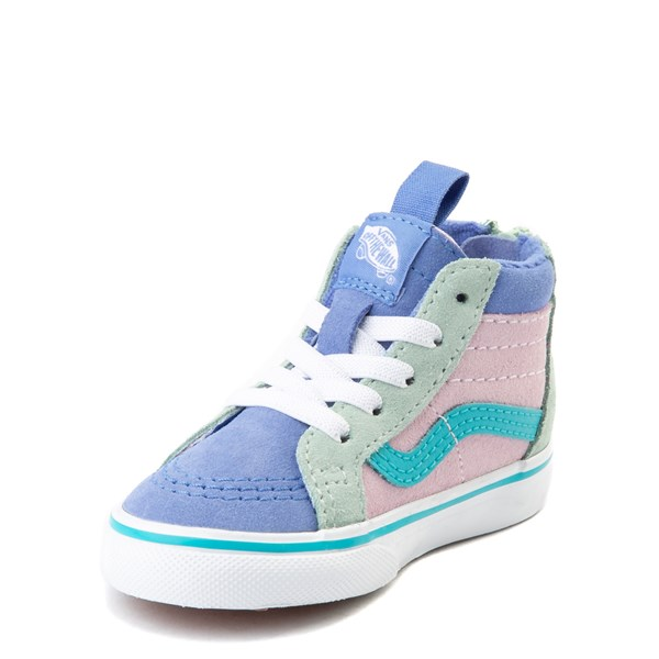 alternate view Vans Sk8 Hi Zip MTE Color-Block Skate Shoe - Baby / Toddler - Lilac Snow / UltramarineALT3