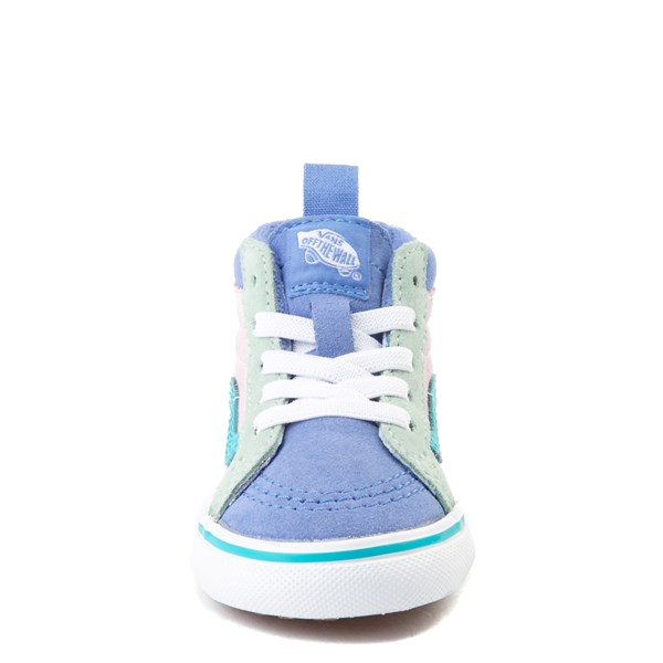 alternate view Vans Sk8 Hi Zip MTE Color-Block Skate Shoe - Baby / Toddler - Lilac Snow / UltramarineALT4