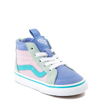 Alternate view of Vans Sk8 Hi Zip MTE Color-Block Skate Shoe - Baby / Toddler - Lilac Snow / Ultramarine