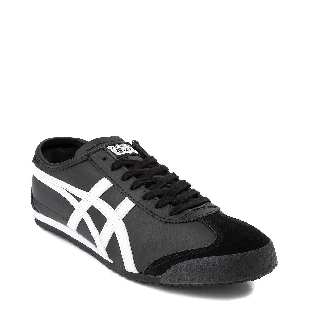 onitsuka tiger mexico 66 slip on black and white leather indigo