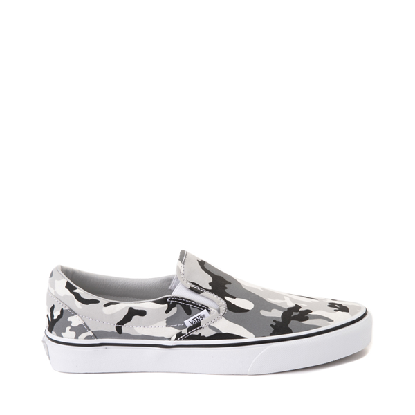 Default view of Vans Slip On Skate Shoe - Gray Camo