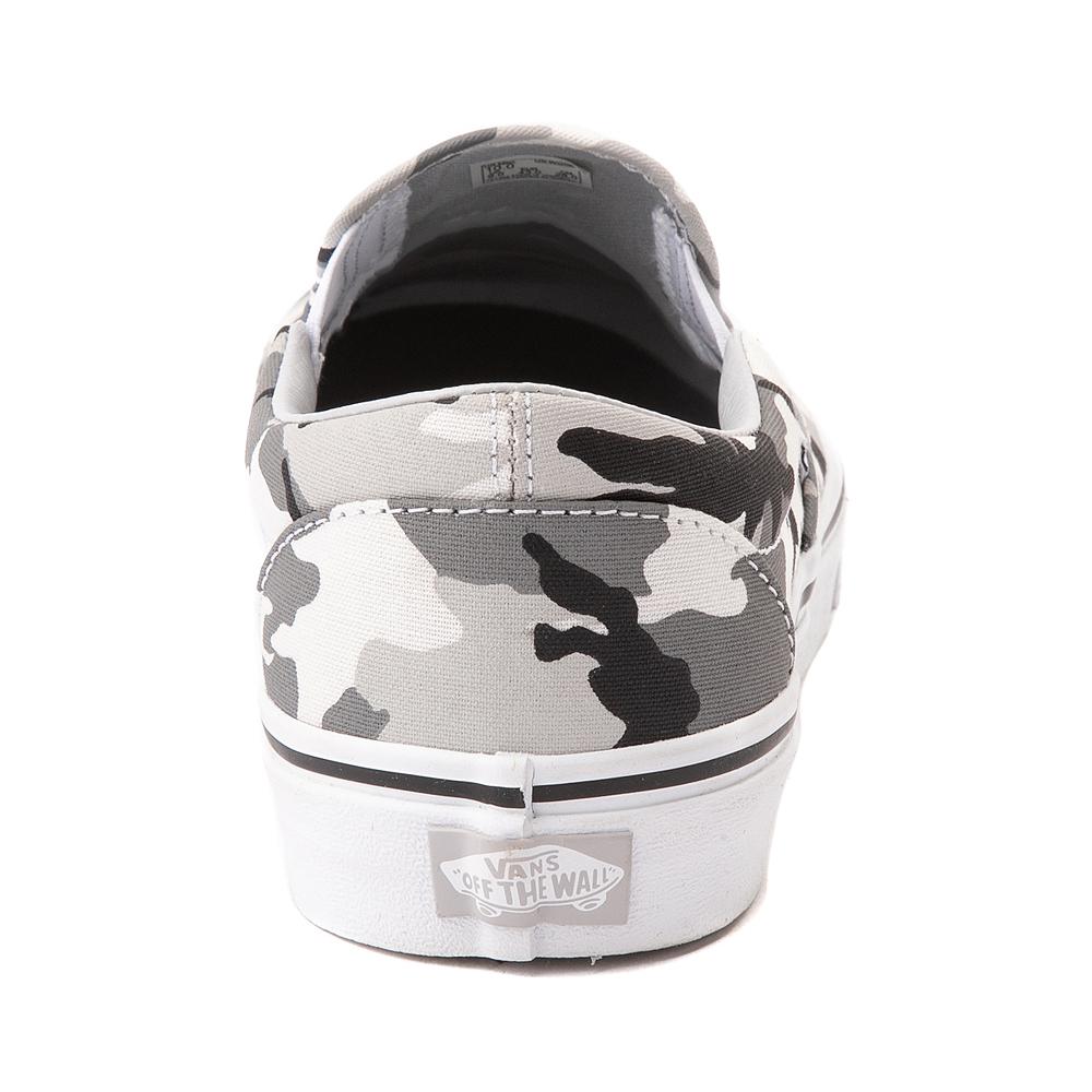 Vans Slip On Skate Shoe - Gray Camo