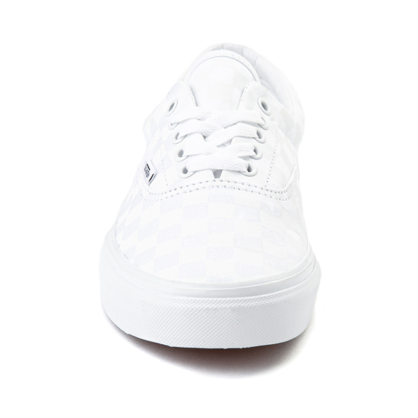 alternate view Vans Era Tonal Checkerboard Skate Shoe - True WhiteALT4