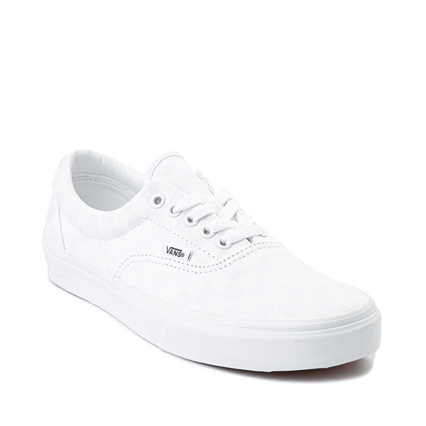 alternate view Vans Era Tonal Checkerboard Skate Shoe - True WhiteALT5