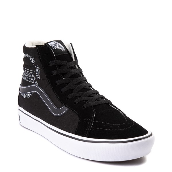 alternate view Vans Sk8 Hi ComfyCush® Distort Skate Shoe - BlackALT1