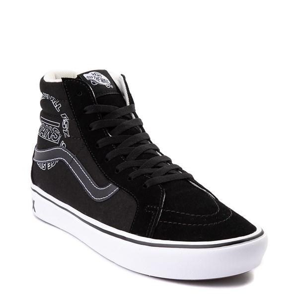 alternate view Vans Sk8 Hi ComfyCush® Distort Skate Shoe - BlackALT1B