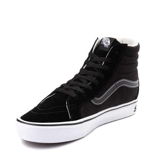 alternate view Vans Sk8 Hi ComfyCush® Distort Skate Shoe - BlackALT3