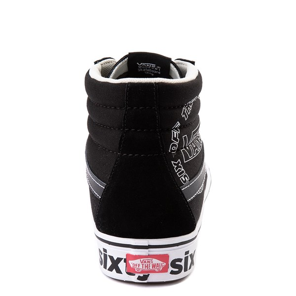 alternate view Vans Sk8 Hi ComfyCush® Distort Skate Shoe - BlackALT6