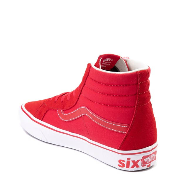 alternate view Vans Sk8 Hi ComfyCush® Distort Skate Shoe - Red / WhiteALT2