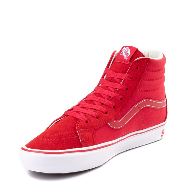 alternate view Vans Sk8 Hi ComfyCush® Distort Skate Shoe - Red / WhiteALT3