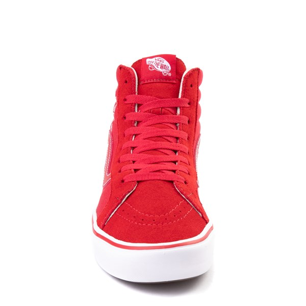 alternate view Vans Sk8 Hi ComfyCush® Distort Skate Shoe - Red / WhiteALT4