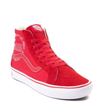 Alternate view of Vans Sk8 Hi ComfyCush® Distort Skate Shoe - Red / White