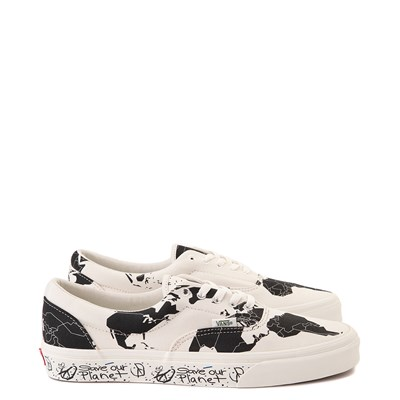 "Main view of Vans Era ""Save Our Planet"" Skate Shoe - White / Black"