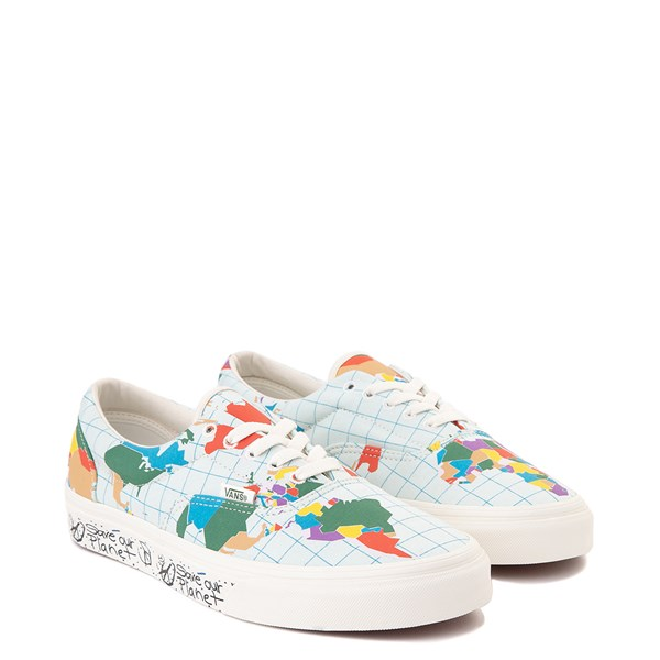 "alternate view Vans Era ""Save Our Planet"" Skate Shoe - White / MultiALT1"