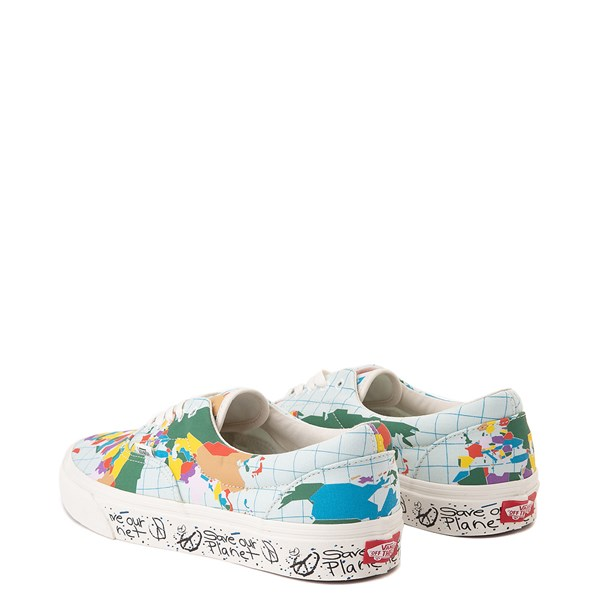 "alternate view Vans Era ""Save Our Planet"" Skate Shoe - White / MultiALT2"