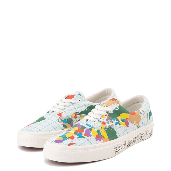 "alternate view Vans Era ""Save Our Planet"" Skate Shoe - White / MultiALT3"