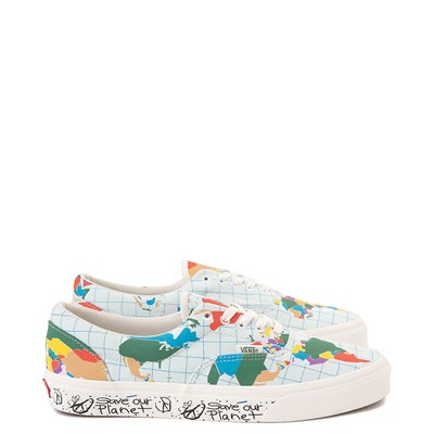 "Main view of Vans Era ""Save Our Planet"" Skate Shoe - White / Multi"