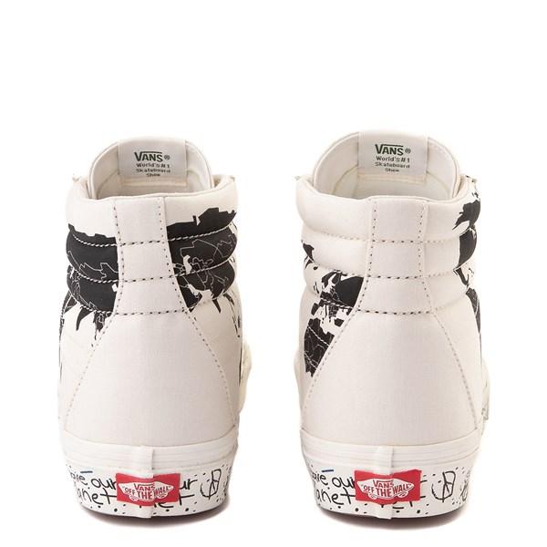 "alternate view Vans Sk8 Hi ""Save Our Planet"" Skate Shoe - White / BlackALT6"
