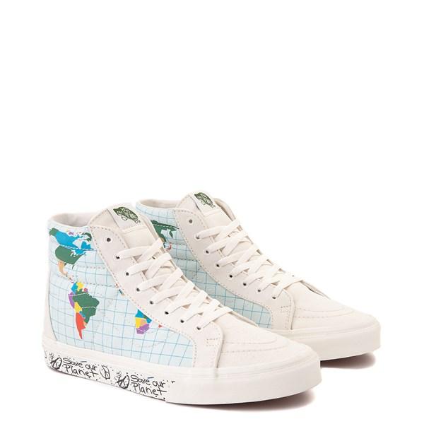 "alternate view Vans Sk8 Hi ""Save Our Planet"" Skate Shoe - White / MultiALT1"