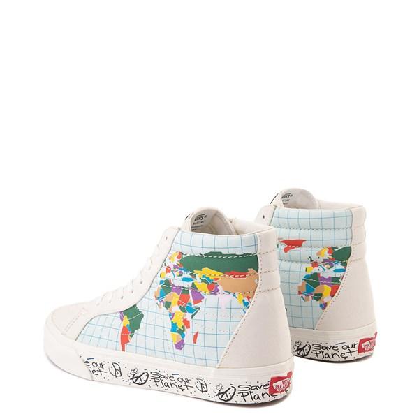 "alternate view Vans Sk8 Hi ""Save Our Planet"" Skate Shoe - White / MultiALT2"