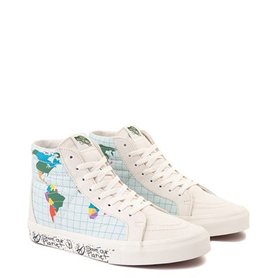 "Alternate view of Vans Sk8 Hi ""Save Our Planet"" Skate Shoe - White / Multi"