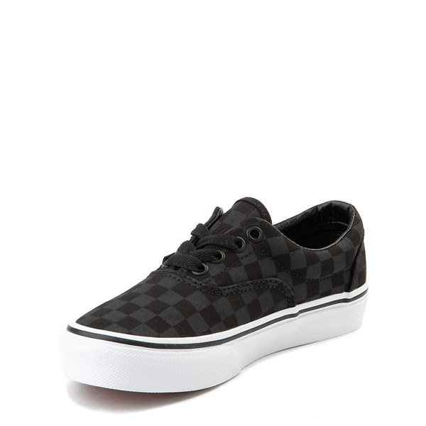 alternate view Vans Era Tonal Checkerboard Skate Shoe - Little Kid / Big Kid - BlackALT3