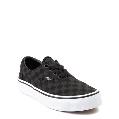 Alternate view of Vans Era Tonal Checkerboard Skate Shoe - Little Kid / Big Kid - Black