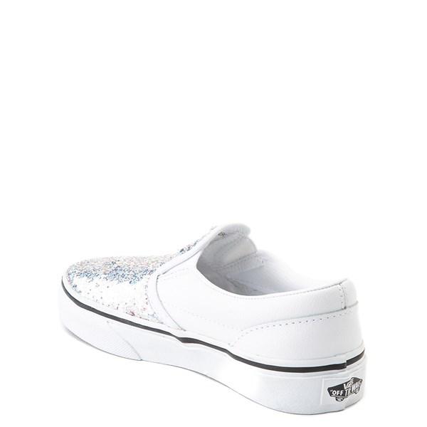 alternate view Vans Slip On Flipping Sequins Skate Shoe - Little Kid / Big Kid - White / PinkALT2