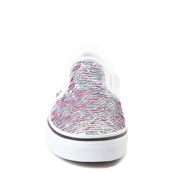 alternate view Vans Slip On Flipping Sequins Skate Shoe - Little Kid / Big Kid - White / PinkALT4