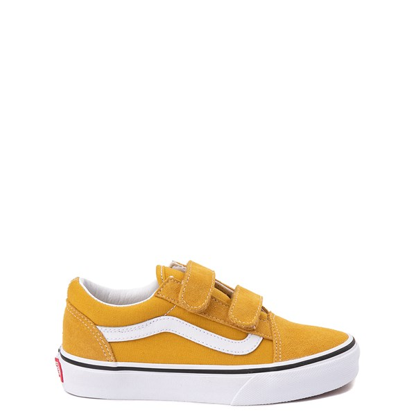 Default view of Vans Old Skool V Skate Shoe - Little Kid / Big Kid - Arrowwood Yellow