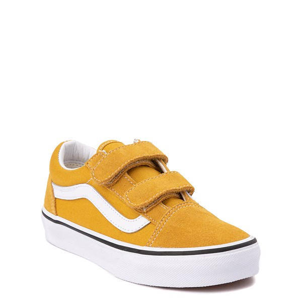 Alternate view of Vans Old Skool V Skate Shoe - Little Kid / Big Kid - Arrowwood Yellow