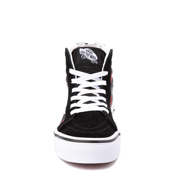 alternate view Vans Sk8 Hi Zip Skate Shoe - Little Kid / Big Kid - Black / Red CamoALT4