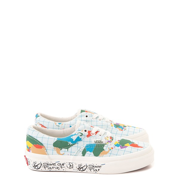 "Default view of Vans Era ""Save Our Planet"" Skate Shoe - Little Kid - White / Multi"