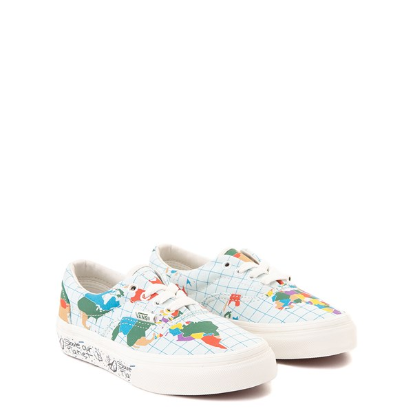 "alternate view Vans Era ""Save Our Planet"" Skate Shoe - Little Kid - White / MultiALT1"