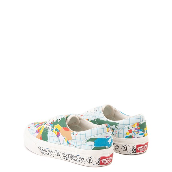 "alternate view Vans Era ""Save Our Planet"" Skate Shoe - Little Kid - White / MultiALT2"
