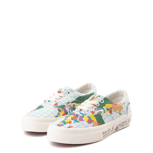 "alternate view Vans Era ""Save Our Planet"" Skate Shoe - Little Kid - White / MultiALT3"