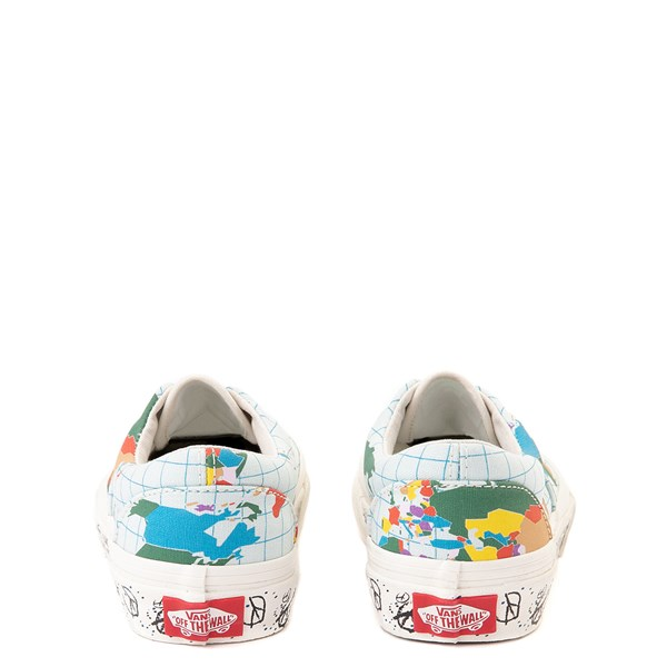 "alternate view Vans Era ""Save Our Planet"" Skate Shoe - Little Kid - White / MultiALT6"