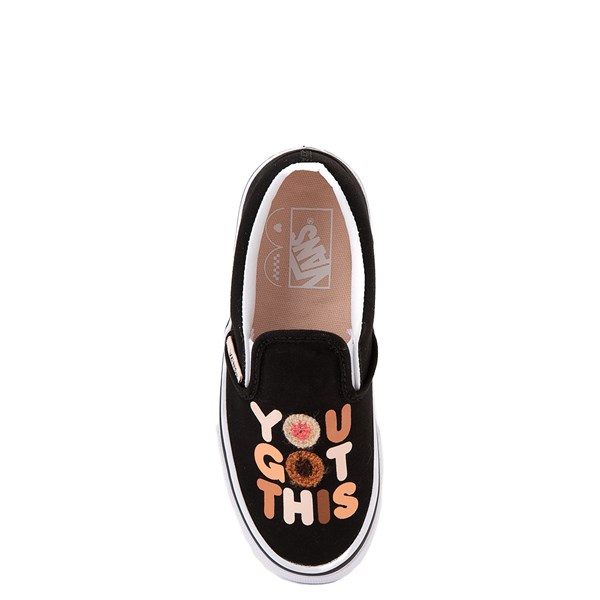 "Vans Slip On Breast Cancer Awareness ""You Got This"" Skate Shoe - Little Kid / Big Kid - Black"