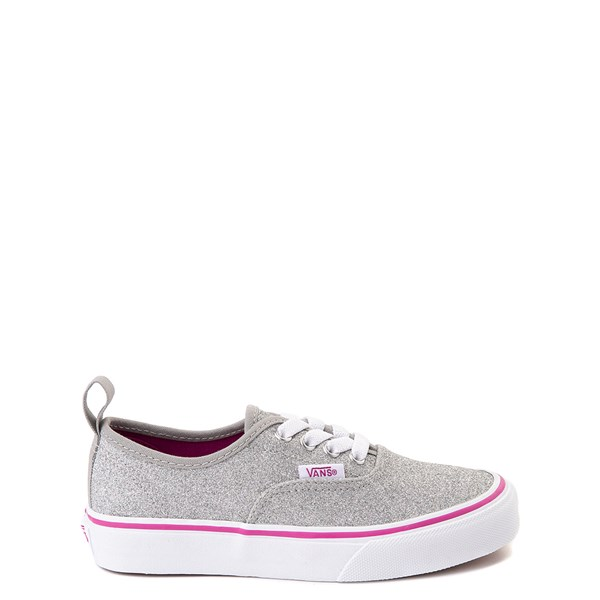 Default view of Vans Authentic Glitter Skate Shoe - Little Kid / Big Kid - Silver