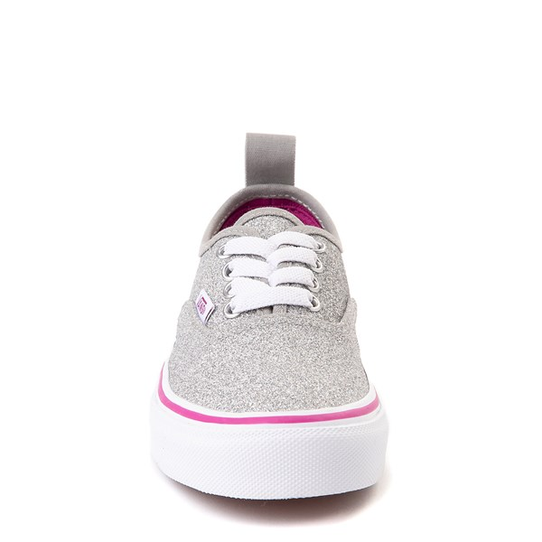 alternate view Vans Authentic Glitter Skate Shoe - Little Kid / Big Kid - SilverALT4