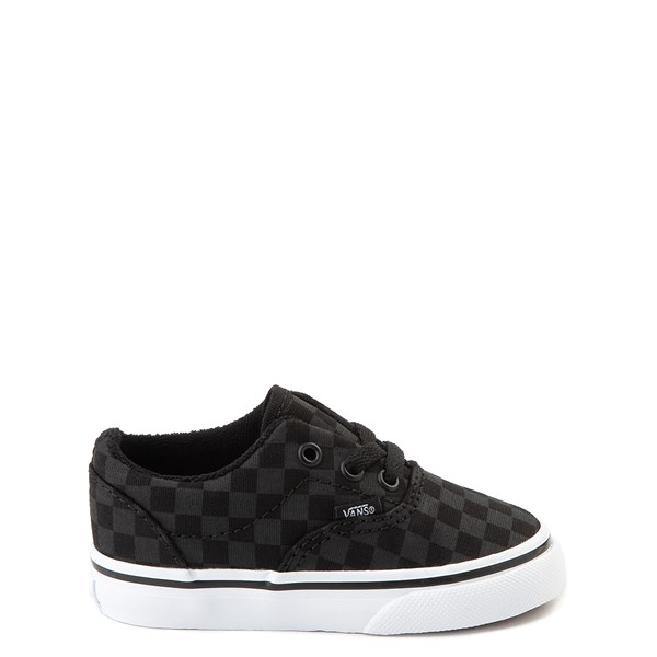 Main view of Vans Era Tonal Checkerboard Skate Shoe - Baby / Toddler - Black / Black