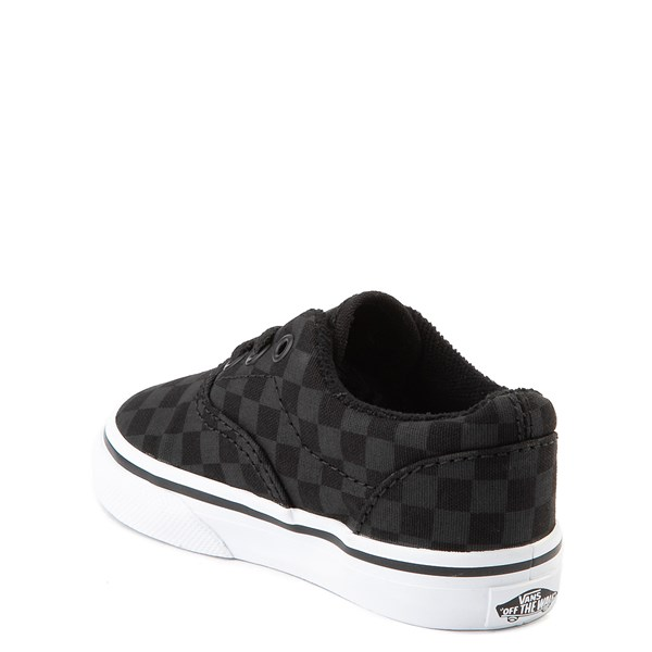 alternate view Vans Era Tonal Checkerboard Skate Shoe - Baby / Toddler - Black / BlackALT2