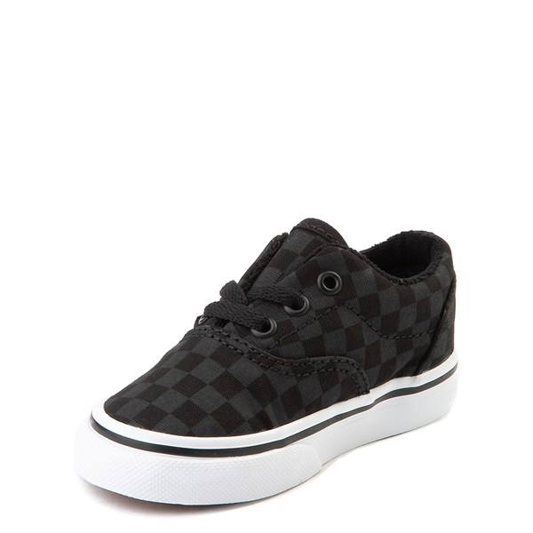alternate view Vans Era Tonal Checkerboard Skate Shoe - Baby / Toddler - Black / BlackALT3