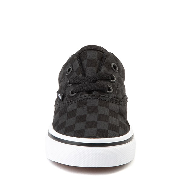 alternate view Vans Era Tonal Checkerboard Skate Shoe - Baby / Toddler - Black / BlackALT4