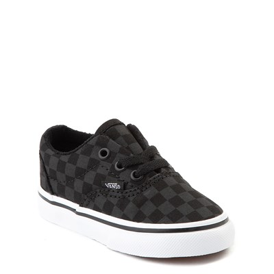 Alternate view of Vans Era Tonal Checkerboard Skate Shoe - Baby / Toddler - Black / Black