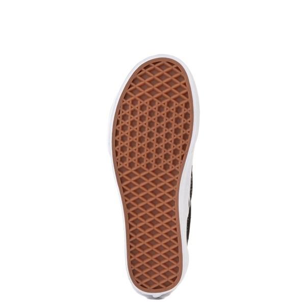 alternate view Vans Slip On Botanical Checkerboard Skate Shoe - Black / WhiteALT5